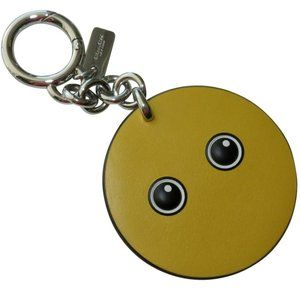 Yellow Key Ring Key Fob Bag Smiley Charm